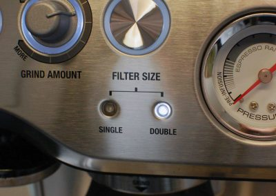Breville BES870XL Filter Size Control